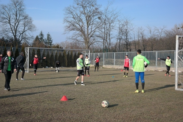 The Top League Haladas had training in Kiraly Sport Comlpex